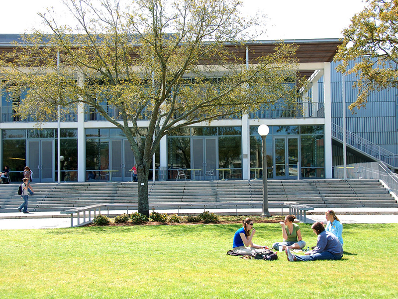 Students enjoy relaxing on the LBC Quad